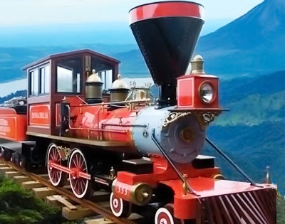 Vintage Costa Rican rail travel on the Monteverde Cloud Forest Train