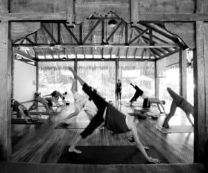 Yoga class following poses at Pranamar Villas in Costa Rica