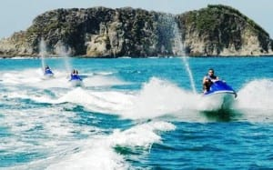 Jungle Coast Jet Ski tour off the Manuel Antonio, Costa Rica coastline