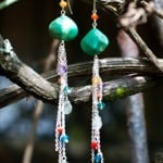 Elegant earrings by Faery Dust Workshop on sale at Pranamar Villas' gift shop
