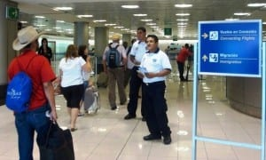 Costa Rica's Tourist Police give tourists information at the international airports