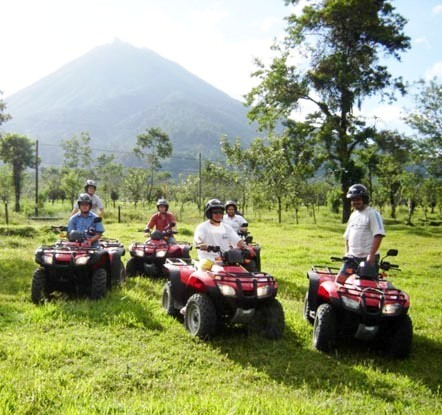 Enjoy a fun ATV tour at Arenal Volcano in Costa Rica with Team CRT