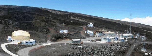 Mauna Loa Volcano NOAA lab / photo courtesy of NOAA