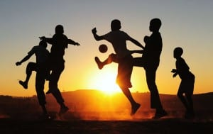 Football brings kids together in South Africa