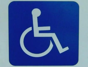 Access for wheelchairs sign