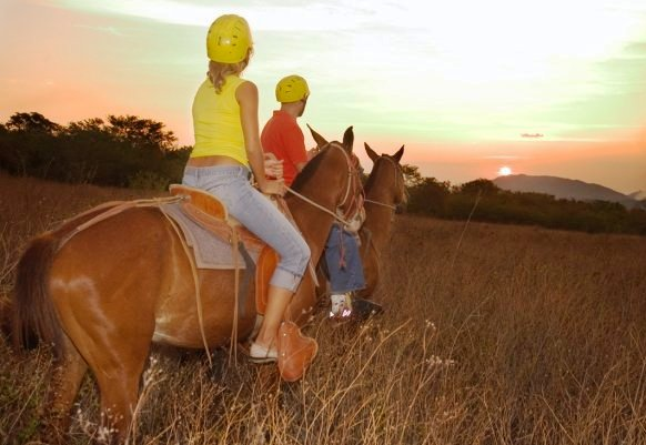 Horseback riding in beautiful Guanacaste, Costa Rica