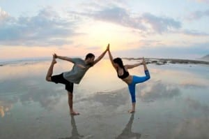 Pranamar yoga on the beach at Santa Teresa