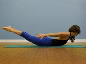 Yoga pose Locust