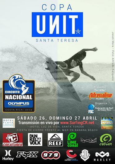 Costa Rica national surf competition set for Santa Teresa