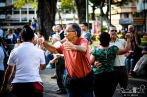 Dancing in the park in San Jose Costa Rica