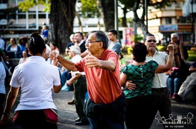 Dancing in the park in San Jose Costa Rica