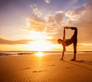 Yoga instructor Nancy Goodfellow at Pranamar Villas on Santa Teresa Beach, Costa Rica