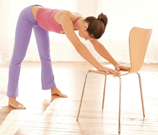 Yoga pose half forward bend