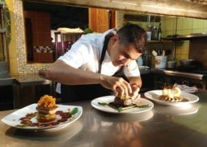 Chef Randy Siles at Hotel Tropico Latino in Santa Teresa Costa Rica