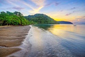 Golfo Dulce in southern Costa Rica