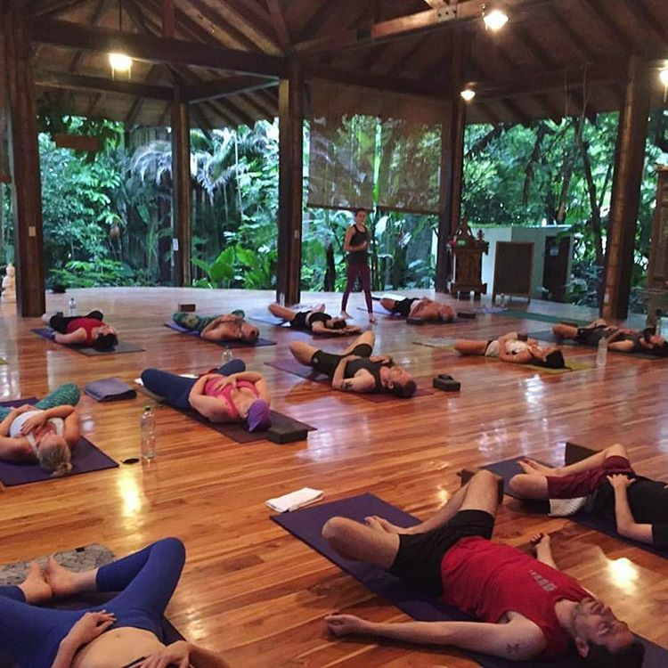 Class at Pranamar Villas' Yoga Shala, photo credit pranamarvillas.
