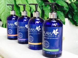 Raw Botanicals Costa Rican natural bath products