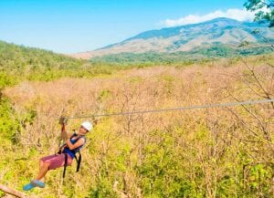 Costa Rica zip line tours at Hotel Hacienda Guachipelin in Guanacaste