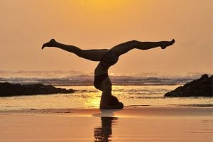 Yoga on the beach in Costa Rica t Pranamar Villas